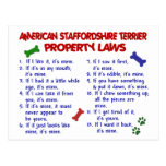 AMERICAN STAFFORDSHIRE Property Laws 2 Postcard