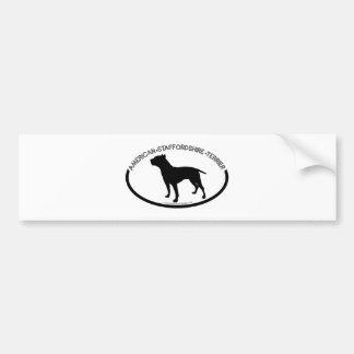 American Staffordshire Silhouette Black Bumper Sti Car Bumper Sticker