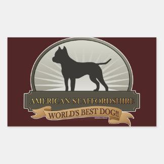 American Staffordshire Rectangle Sticker