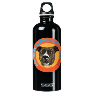 American staffordshire terrier aluminum water bottle