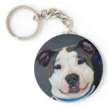 American Staffordshire Terrier-Am Staff Photo Keychain