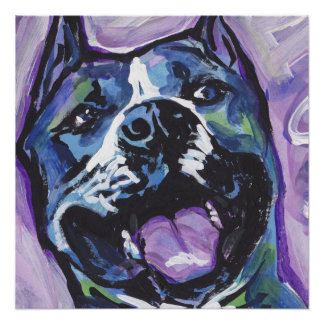 American Staffordshire Terrier Amstaff  Pop Art Poster