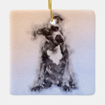 American Staffordshire Terrier - Amstaff Puppy Ceramic Ornament