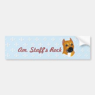 American Staffordshire Terrier ~ Blue w/White Diam Bumper Sticker