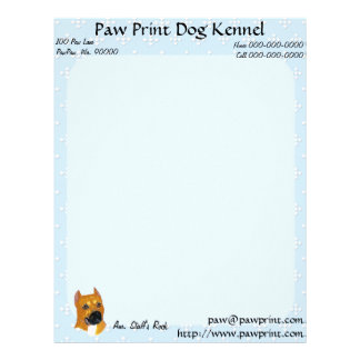 American Staffordshire Terrier ~ Blue w/White Diam Letterhead Template