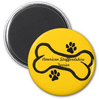 American Staffordshire Terrier Bone N Paws Refrigerator Magnets