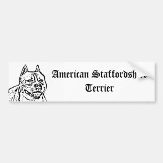 American Staffordshire Terrier bumper sticker Car Bumper Sticker