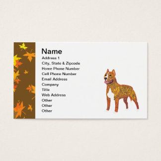 American Staffordshire Terrier Business Card