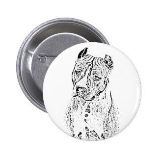American Staffordshire Terrier Button