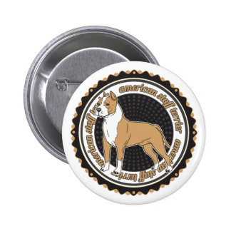 American Staffordshire Terrier 2 Inch Round Button