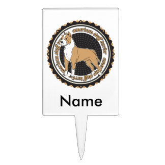 American Staffordshire Terrier Cake Topper