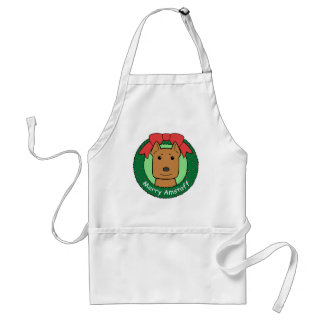American Staffordshire Terrier Christmas Apron