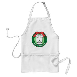 American Staffordshire Terrier Christmas Aprons