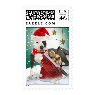 american staffordshire Terrier christmas postage