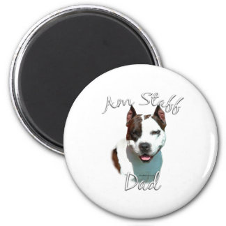 American Staffordshire Terrier Dad 2 2 Inch Round Magnet