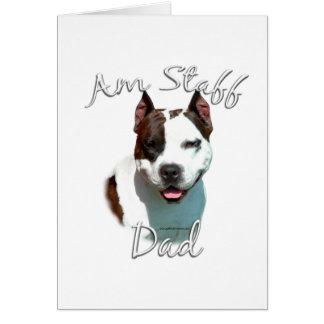 American Staffordshire Terrier Dad 2 Card