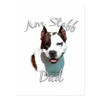 American Staffordshire Terrier Dad 2 Postcard