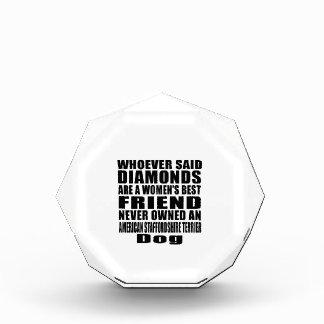 AMERICAN STAFFORDSHIRE TERRIER DOG BEST FRIEND DES ACRYLIC AWARD