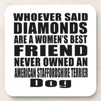 AMERICAN STAFFORDSHIRE TERRIER DOG BEST FRIEND DES BEVERAGE COASTER