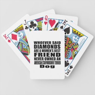 AMERICAN STAFFORDSHIRE TERRIER DOG BEST FRIEND DES BICYCLE PLAYING CARDS