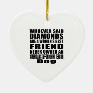 AMERICAN STAFFORDSHIRE TERRIER DOG BEST FRIEND DES CERAMIC ORNAMENT