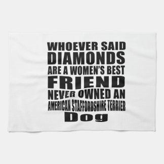AMERICAN STAFFORDSHIRE TERRIER DOG BEST FRIEND DES HAND TOWEL
