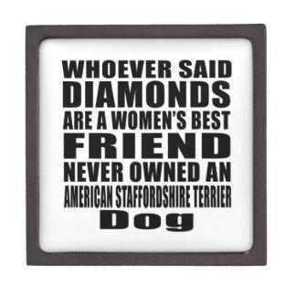 AMERICAN STAFFORDSHIRE TERRIER DOG BEST FRIEND DES JEWELRY BOX