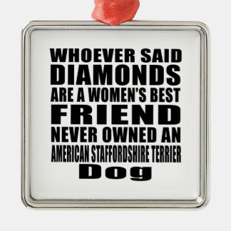 AMERICAN STAFFORDSHIRE TERRIER DOG BEST FRIEND DES METAL ORNAMENT