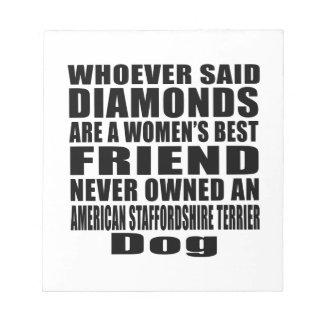 AMERICAN STAFFORDSHIRE TERRIER DOG BEST FRIEND DES NOTE PAD