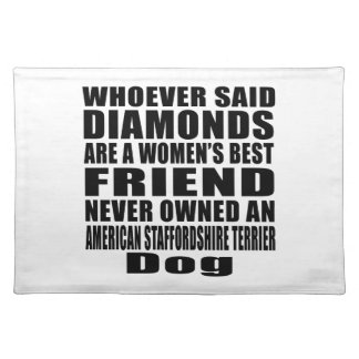 AMERICAN STAFFORDSHIRE TERRIER DOG BEST FRIEND DES PLACEMAT