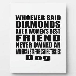 AMERICAN STAFFORDSHIRE TERRIER DOG BEST FRIEND DES PLAQUE
