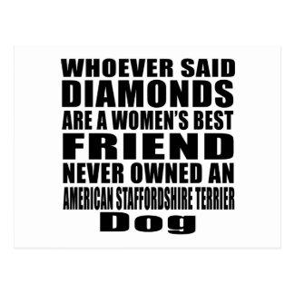 AMERICAN STAFFORDSHIRE TERRIER DOG BEST FRIEND DES POSTCARD