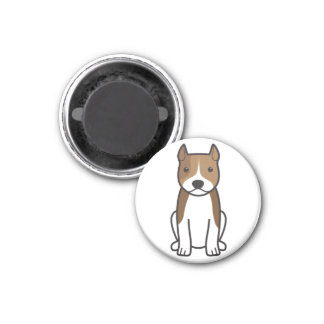 American Staffordshire Terrier Dog Cartoon Fridge Magnet