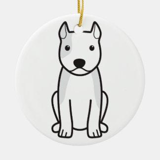American Staffordshire Terrier Dog Cartoon Ornaments