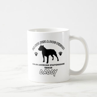 American Staffordshire Terrier Dog Daddy Classic White Coffee Mug
