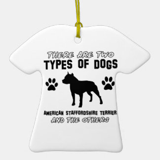 American Staffordshire terrier dog designs Ornaments