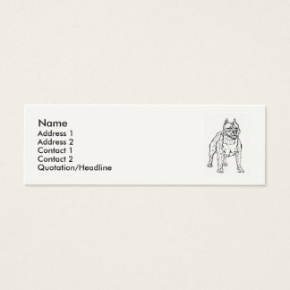 American Staffordshire Terrier Dog Mini Business Card