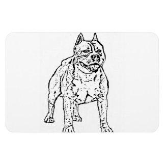 American Staffordshire Terrier Dog Vinyl Magnet