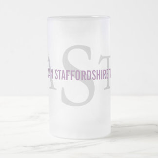 American Staffordshire Terrier Frosted Glass Beer Mug