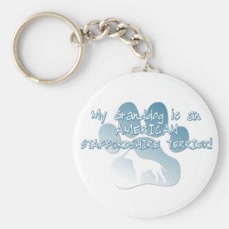 American Staffordshire Terrier Granddog Keychains