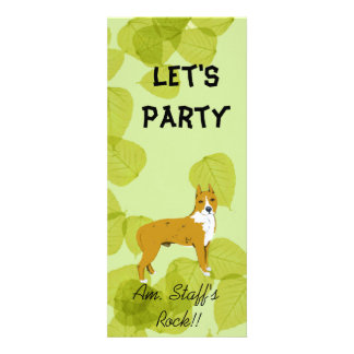 American Staffordshire Terrier ~ Green Leaves Personalized Announcement