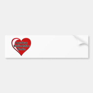 American Staffordshire Terrier Heart Car Bumper Sticker