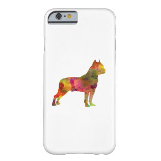 American Staffordshire Terrier in watercolor 2 Barely There iPhone 6 Case