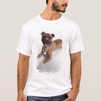 American Staffordshire Terrier lying down, T-Shirt