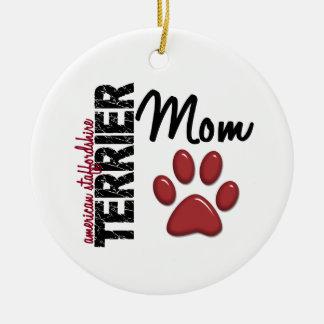 American Staffordshire Terrier Mom 2 Christmas Ornament