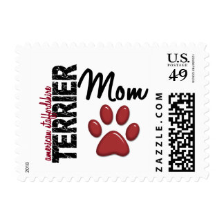 American Staffordshire Terrier Mom 2 Stamp