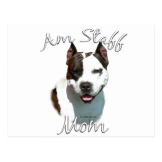 American Staffordshire Terrier Mom 2 Postcard