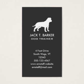 American Staffordshire Terrier (Natural Ears) Business Card