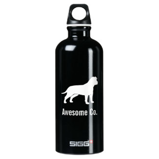 American Staffordshire Terrier (Natural Ears) Water Bottle