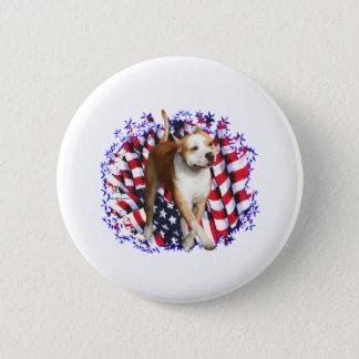 American Staffordshire Terrier Patriot Button